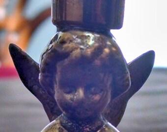 Vintage brass angel candelholder