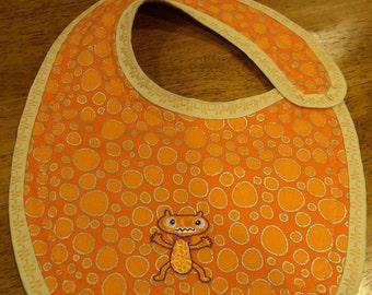 Orange Monster Bib