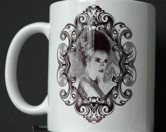 Bride of Frankenstein's  Monster Cameo Printed Ceramic Mug 11 or 15 ounce