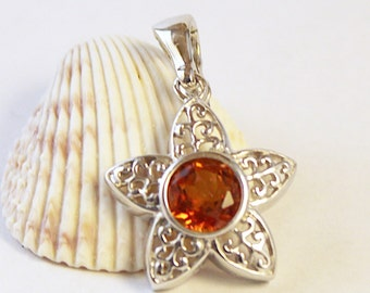 Necklace, Star Pendant, Silver Star Pendant, Starfish Necklace, Quartz Pendant, Gemstone Pendant,Silver Star Pendant, Star Silver Pendant