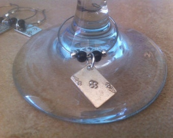 Playing Card Wine Charms