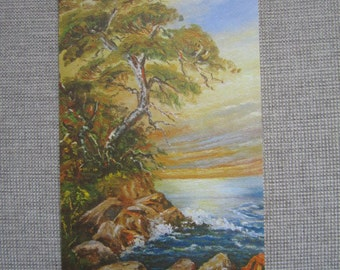 Monterey Cypress, Paintings of California by Ruby C. Dobesh, Fine Art Reproduction Note Card