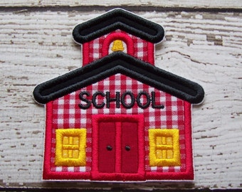 School House Iron On Or Sew On Applique Patch