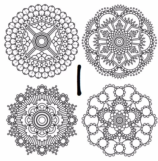 square mandala coloring pages - photo#17