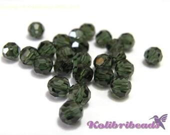 10x Swarovski 5000 Faceted Round Beads 6mm - Tourmaline - Genuine Austrian Crystal