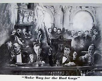 Gangsters Bad Guys Godfather Scarface Goodfellas poster 24 x 36