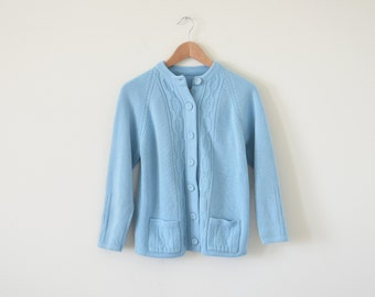 1960s sky blue cardigan / vintage sweater jacket