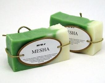 Mesha - Handmade Soaps - Unscented - Avocado Oil, Sunflower Oil, Cocoa Butter, Coconut Oil, Olive Oil, Palm Oil
