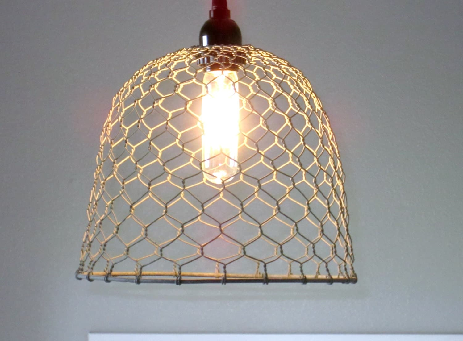 rustic pendant lighting chicken wire farmhouse pendant
