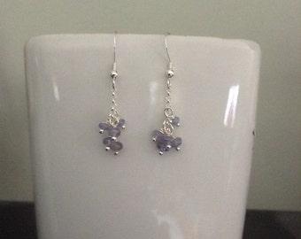 Tanzanite bead earrings