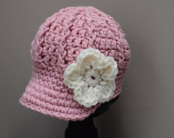 Crochet Newsboy Hat, Newsboy Cap, Newsboy Beanie Girl, Babygirl Newsboy Hat