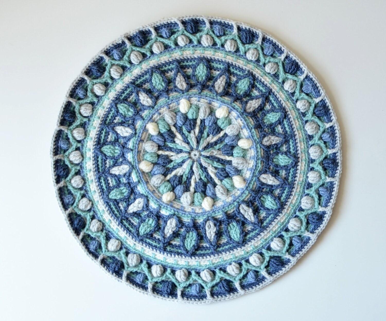 Pattern overlay crochet mandala dandelion round mandala for Pattern overlay