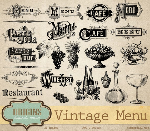 restaurant menu clipart - photo #41