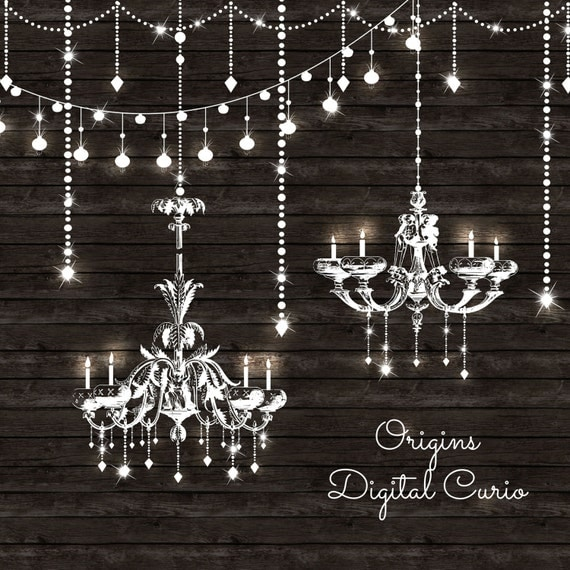 String Lights Drawing : Chandeliers Clipart and String Lights PNG and Vector Clip