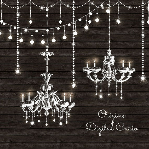 String Lights With Chandelier : Chandeliers Clipart and String Lights PNG and Vector Clip
