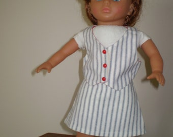 Vest and skirt fits 18 in doll such as AG.