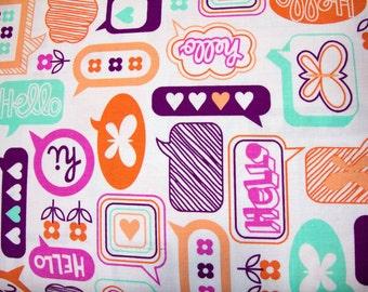 CLEARANCE - 1/2 Yard - Moxie / Erin McMorris / CHATTERBOX / Tangerine / Free Spirit / Westminster Fibers
