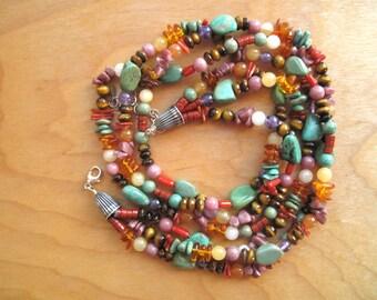 Mixed Bead Southwestern Necklace - 65