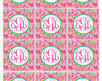 First Impression Lilly Pulitzer Cupcake Toppers