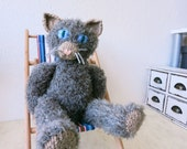 Cat Doll Radost/hand knitted cat/collectible decorative cat/knitted toy/decoration/OOAK/Romie the Cat Family/gift/unique