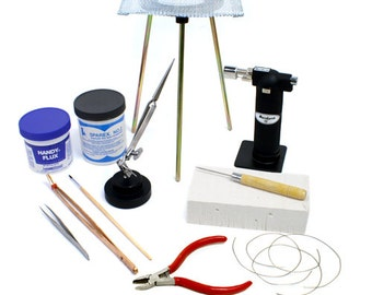 Standard Jewelry Soldering Kit with Silver Solder Wire - KIT-1750