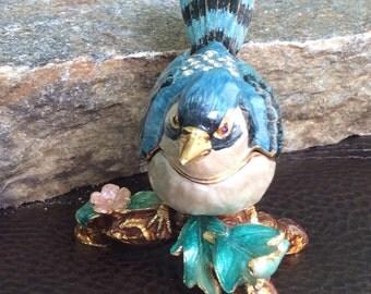 Blue Bird Box, small trinket box