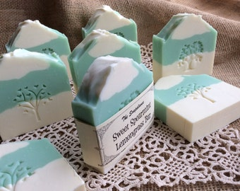 Sweet Spearmint Lemongrass Scented Handmade Soap