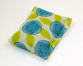 Organic Cotton Catnip Pillow - blue and green