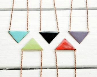 Triangle Enamel Necklaces - Colorful Enamel Earring