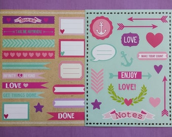 Set of 2 sticker sheets