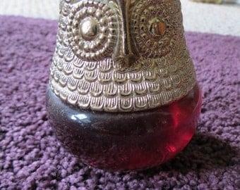 1970 Avon Owl Fancy Raining Violets Cologne Gel