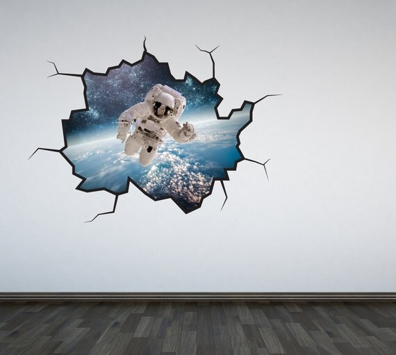 Astronaut wall decal outer space v2 sticker mural outer space for Astronaut wall mural