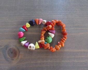 Skulls & Spikes Bracelet Set