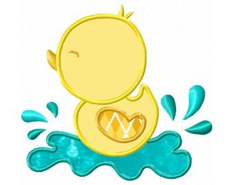 Baby Duckling...Applique  Machine Embroidery DESIGN NO. 502