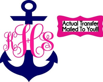 Personalized / Custom Anchor Monogram Iron On Transfer