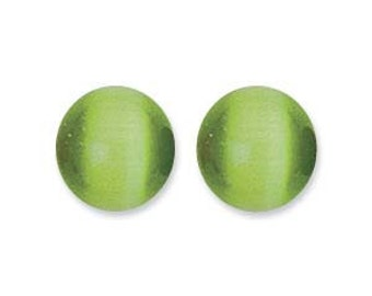 Cats Eye ( Fibre Optics ) 8mm Olive - Pack 19