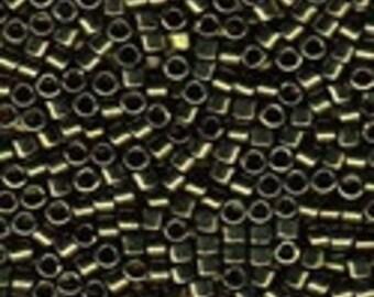 MIYUKI #11 Delica 11 - Metallic Olive Green - 5 grams