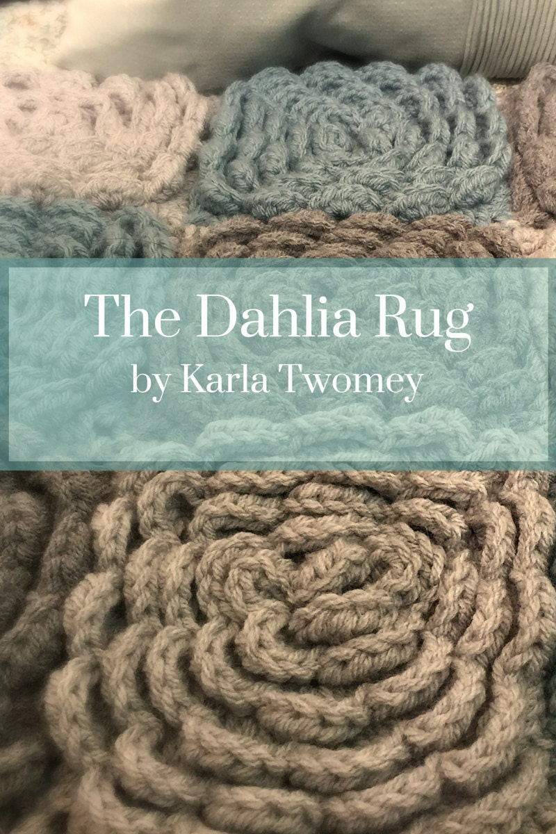 The Dahlia Rug Pattern Flower Rug Crochet Nursery Bath