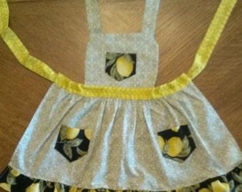 Girls Ruffled Lemon Apron
