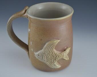 Fish Clay Homemade Drinking Mug