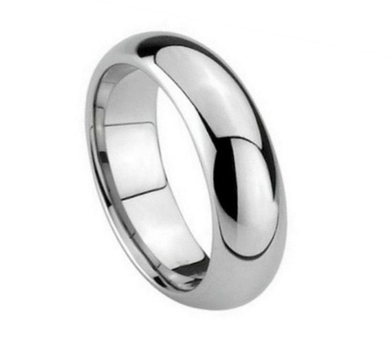 6MM Tungsten Wedding Band Dome High Polished by SIMPLEnUNIQUE
