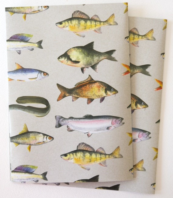 British fresh water fish gift wrapping paper from for Fish wrapping paper