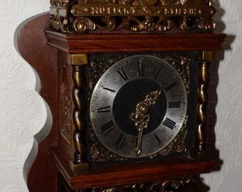 vintage dutch Warmink  zaanse wall clock Wanduhr Pendeluhr ZAANLANDER Zaandam