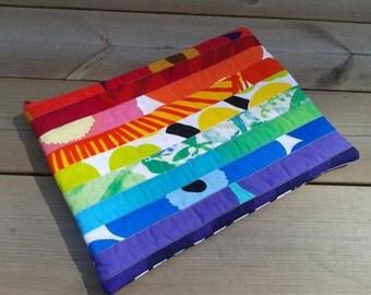 Macbook cover made from Marimekko Fabric, Macbook 13 sleeve, Laptop Case, padded laptop bag, custom Macbook case, Rainbow colors