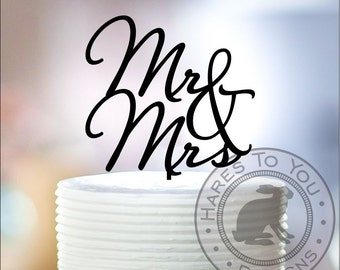 Mr & Mrs Wedding Cake Topper 12-208