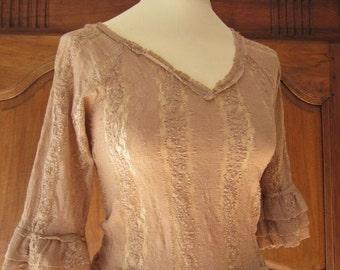 Lace blouse  Nulle part ailleurs powder