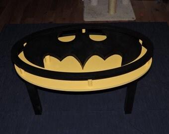 Handmade Batman Coffee Table - DC Comics Dark Knight Man Cave