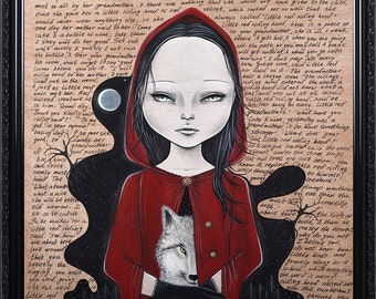 Red riding hood Pop Surrealism Lowbrow Giclee Art Print