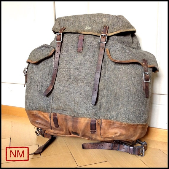 Vintage Swiss Army Backpack Rucksack of the Swiss Military