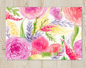Floral Watercolour Painting Instant Download Printable